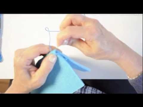 punto festone doppio per cucire astucci in feltro - YouTube
