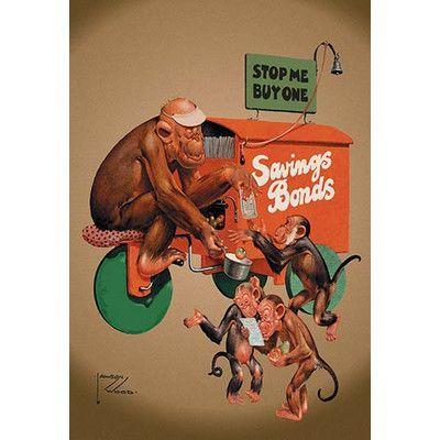 Buyenlarge 'Buy Savings Bonds' by Lawson Wood Painting Print