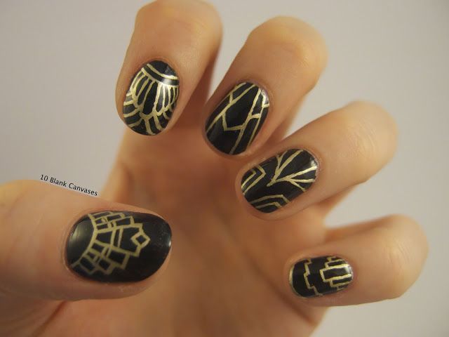Best 20 art deco nails ideas on pinterest triangle nail art geometric nail art and manicures - Deco nail art ...