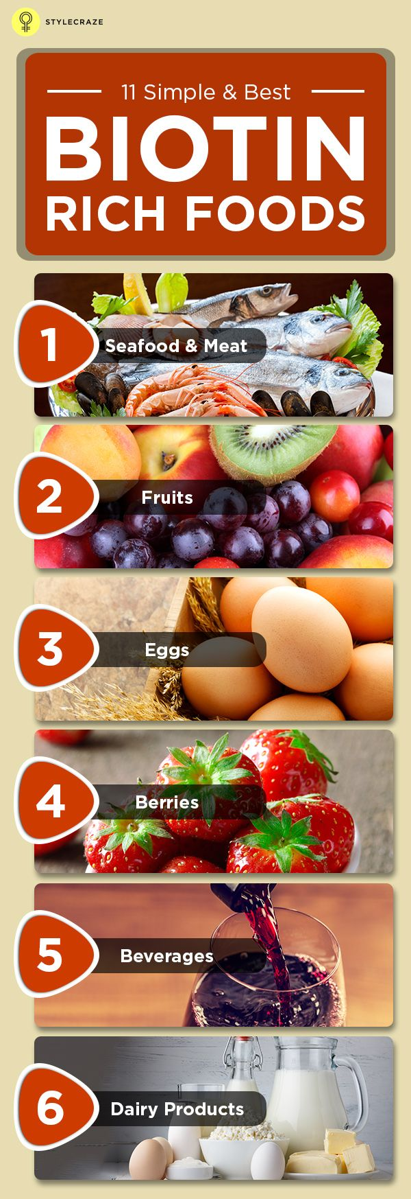 16 Biotin Rich Foods For A Healthy You Hair Lossvitamins