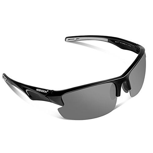 HODGSON Polarized Sunglasses for Men Women Unique Style Unbreakable Sunglasses-Black