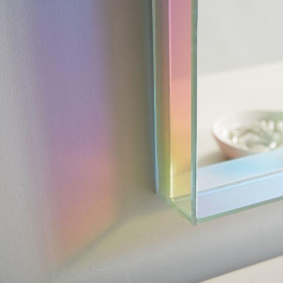 Iridescent Mirror, 30″x30″ – Decor – Mirrors