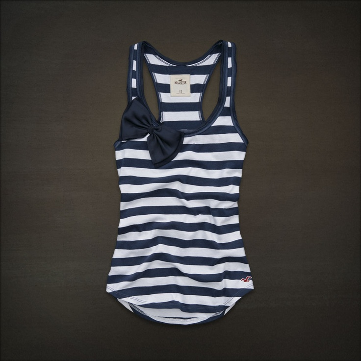 hollister ~~ With navy blue bikini bottoms. swimsuit!