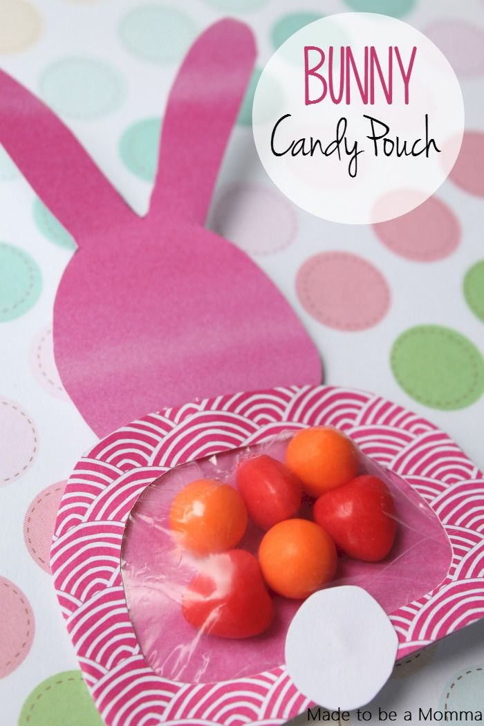 137 best easter containers images on pinterest easter crafts who wouldnt want to receive a bunny candy pouch from made to be a momma are just so stinkin cute plus check out the other 5 easter basket ideas included negle Choice Image