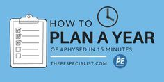 How to Plan a Whole Year of PE in 15 minutes – some ideas for planning out your …