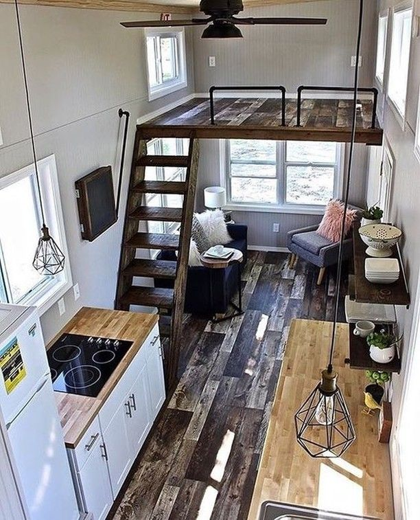 When Can I Move In Love This Rustic Loft Style Tiny Home By Minimansions Tinyhome Builders Tiny House Design Tiny House Interior Design Tiny House Living