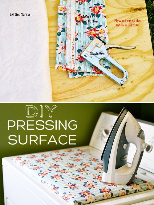 Make a pressing surface to replace your ironing board & save space.