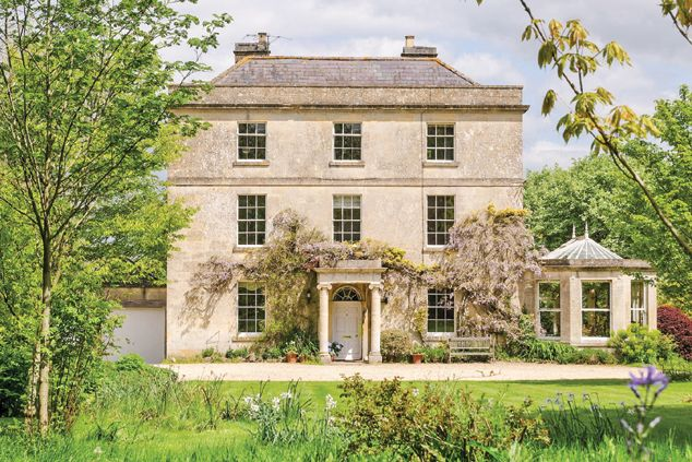 Bradford-on-Avon, Wiltshire. A Grade II-listed house in an Area of Outstanding Natural Beauty. It is built from Bath stone with a Welsh slate roof and has a Victorian conservatory