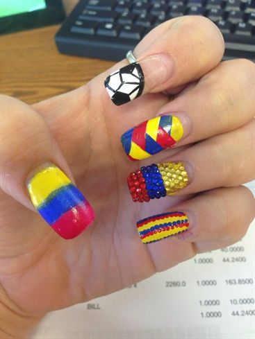 Colombia By Kirstenstar From Nail Art Gallery