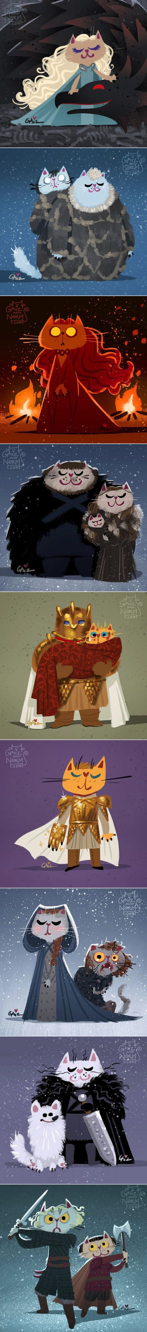 Purrfect Game of Thrones Sketches, Reek Cat Is The Best (by Griz and Norm)