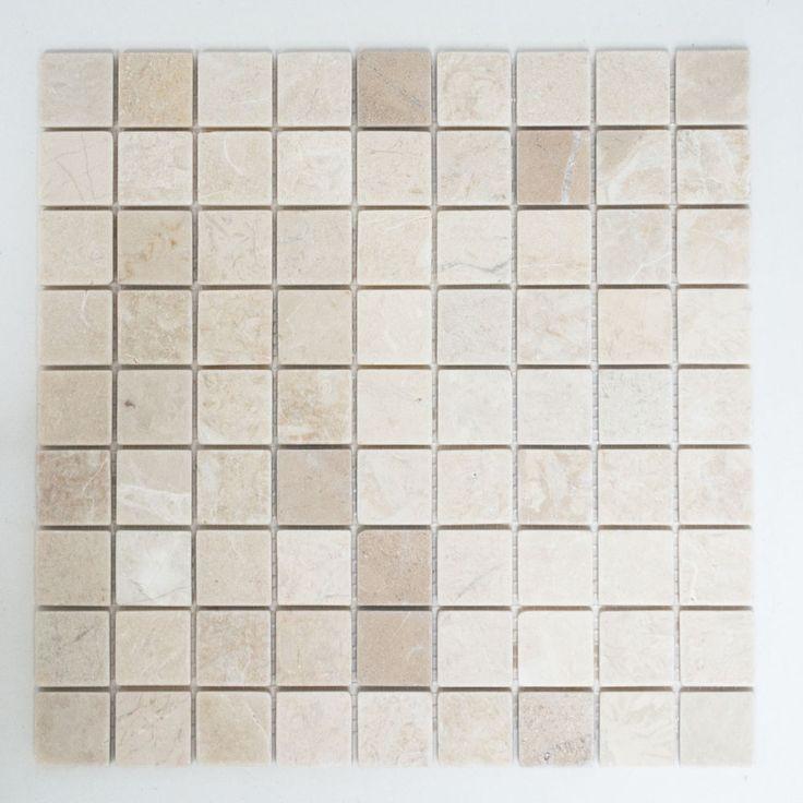 Fliesen Mosaik Mosaikfliesen Marmor Quadrat Boden Bad Küche beige 8mm NEU #311 in Heimwerker, Bodenbeläge & Fliesen, Fliesen   eBay!