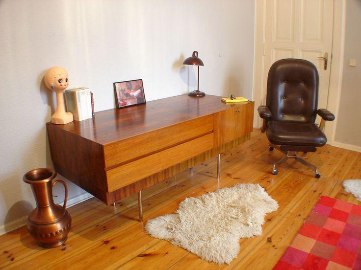 Sideboard Kommode 60er Jahre Teak Rio Palisander Art Deco Bauhaus WK Möbel RAR
