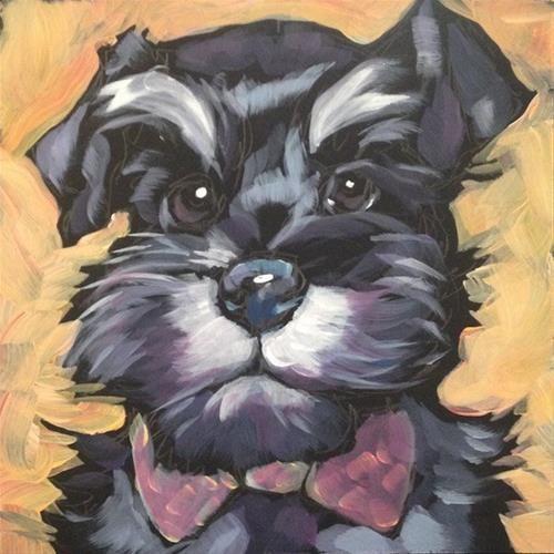 "Daily Paintworks - ""July 11, Gus!"" - Original Fine Art for Sale - © Kat Corrigan"