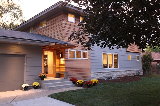 KUHL PHOTO OF THE DAY: Rambler Remodel -- Can you believe this used to be classic 60s Rambler?  By adding the second level, a modern makeover inside, and an amazing exterior transformation this house is a modern marvel.      Rambler after addition of 2nd floor by Steve Kuhl, via Flickr