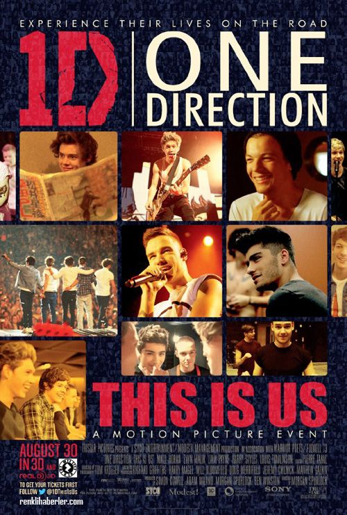 One Direction : This Is Us - Harry Styles, Niall Hora, Zayn Malik, Louis Tomlinson, Liam Payne - 30 Ağustos 2013 Cuma | Vizyon Filmi #OneDirection #ThisIsUs #HarryStyles #NiallHora #ZaynMalik #LouisTomlinson #LiamPayne #1D #sinema #film #movie