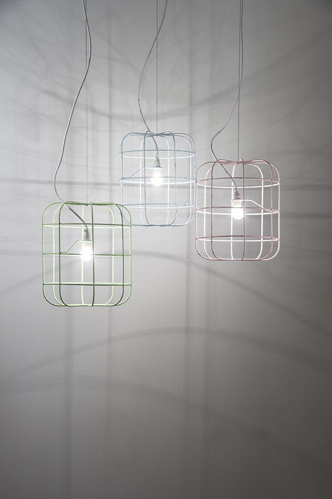 LA CAGE | soft colors DARK #lighting #design #darlings #suspended #dark #lacage #stefanschöning dark.be