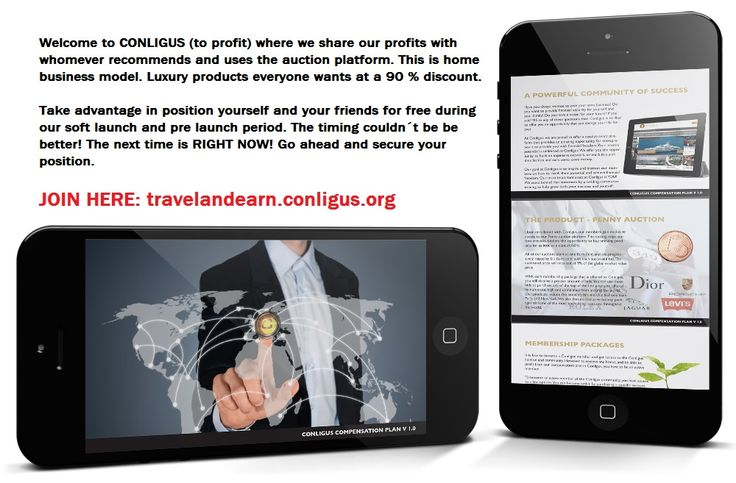 The Hybrid Auction is the first product of Conligus. Giving people the chance to win products with as much as 91% discount!   !! JOIN TO OUR TEAM: https://travelandearn.conligus.org/   #auction #hybridauction #auctionplatform #onlineauction #auctionportal #discounts #business #onlinebusiness #homebusiness #homebasedbusiness #conligus #holiday #highendproducts #highstreet #highstreetbrands #luxury #luxuryproducts #lifestyle #bids #bid #bidding #offer #deal #travelandearn
