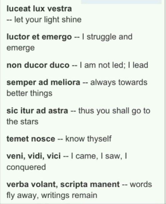 Some of these Latin verses would make great tattoos