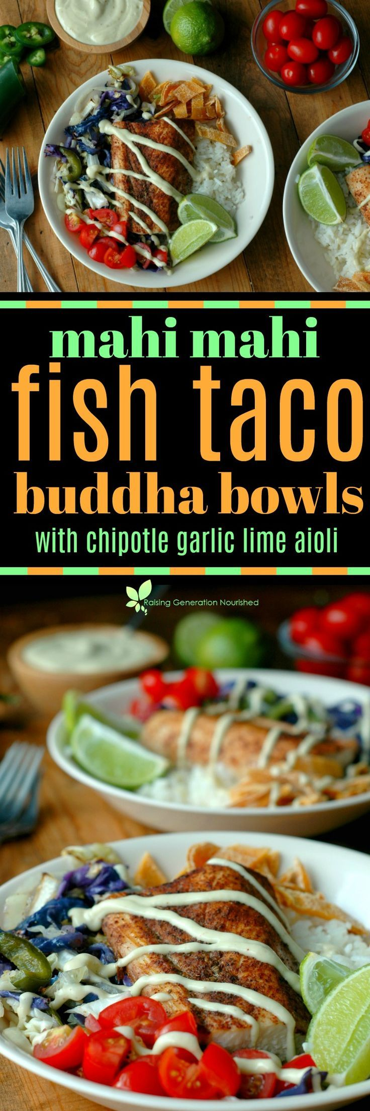 """Quick prep """"fish taco"""" inspired Buddhabowls the whole family will love!"""