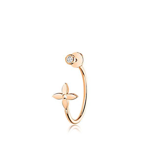 Aro Monogram Idylle de oro rosa y diamante - Alta joyería | LOUIS VUITTON