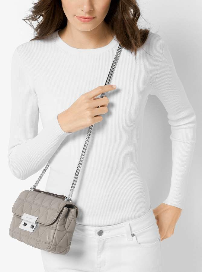 214637c7f3c1 MICHAEL Michael Kors Sloan Small Quilted-Leather Crossbody in 2019 ...