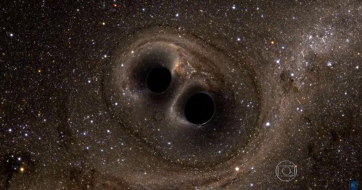 Cientistas detectam ondas gravitacionais e ouvem universo Grupo conseguiu ouvir choque de buracos negros que aconteceu 1,3 bilhão de anos atrás. Einsten propôs tese de ondas gravitacionais há 100 anos.