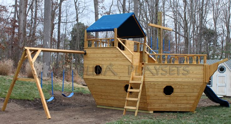 Wooden Noah's Ark Playground | ... Wooden Playsets » Featured Playsets » Large Noah's Ark ...