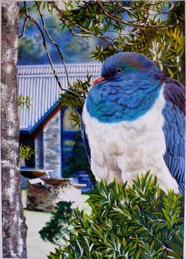 Bird, bath and Beyond by Sandra Whyte http://sandrawhyteartist.co.nz/