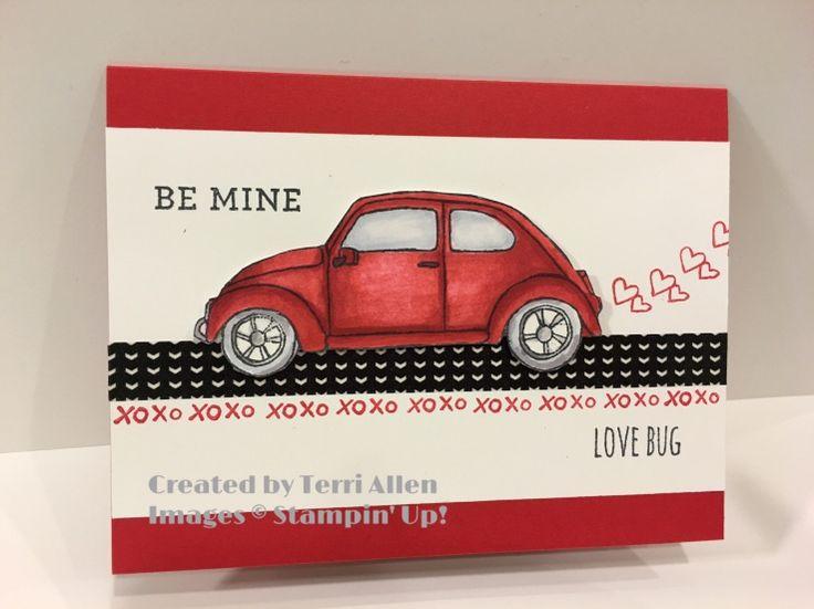 card classic cars VW Volkwagen bug beetle folkevogn car tranportation - Beautiful Ride by Terri Allen