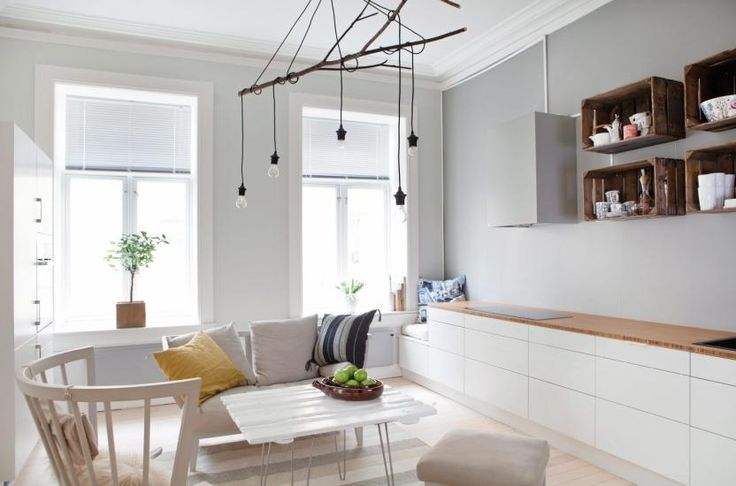 Kitchen from Sigdal, lights Ferm Living