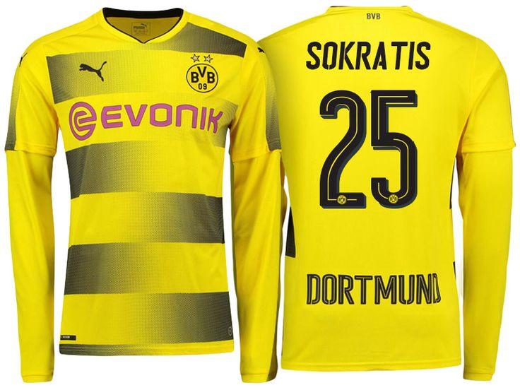 Borussia Dortmund 2017-18 LS Home Shirt sokratis papastathopoulos