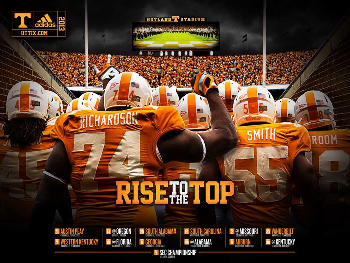 Freeposters can also bepicked upat any home athletic event or in the ticket  office.   Posters will be available at least 1 month prior to season opener. http://www.utsports.com/fans/poster.html