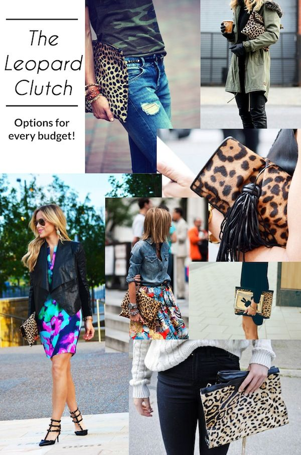 Oversized leopard clutches for any budget