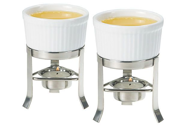 Butter Warmer Set with Stainless Stands on OneKingsLane.com