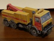 MAZ-683000 (ETS-4) TowTruck Free Vehicle Paper Model Download