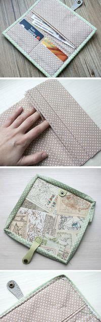 Easy Wallet Sewing Pattern. DIY Tutorial in Pictures. http://www.handmadiya.com/2015/10/easy-wallet-tutorial.html