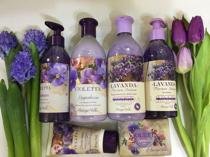 Bottega Verde - violeta si lavanda!
