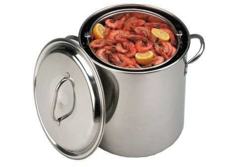 King Kooker 22-Quart Stainless Steel Boiling Pot, 2015 Amazon Top Rated Outdoor Fryer Accessories #Lawn&Patio
