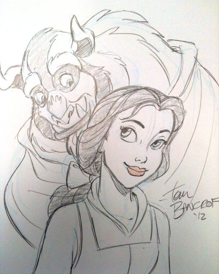 beauty_and_the_beast_sketch_by_tombancroft-d5oc6gg.jpg ...