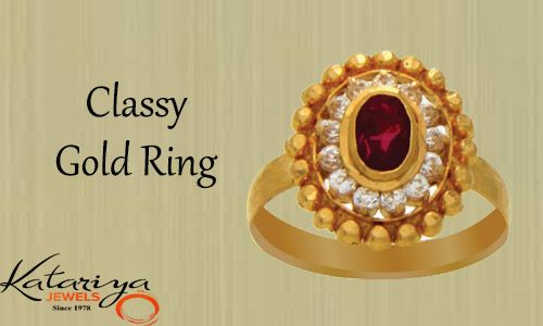 Royal Gold Ring in 22Kt with Red Stone  Buy Now :http://buff.ly/1J8ZFEP COD Option Available With Free Shipping In India
