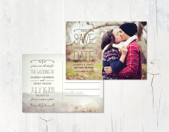 Popular Save the Date Postcard