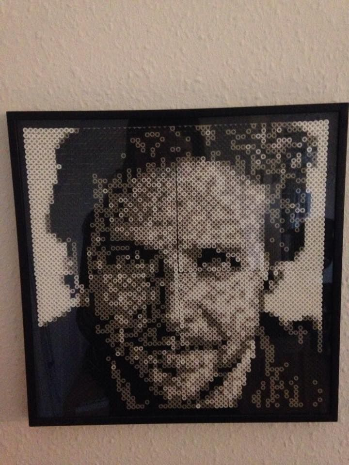 Actor Bradley Cooper made in normal sized hama-pearls
