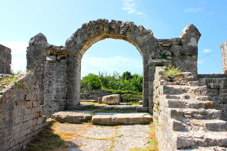 Solin - vast area of Roman ruins, close to city of Split, Croatia.