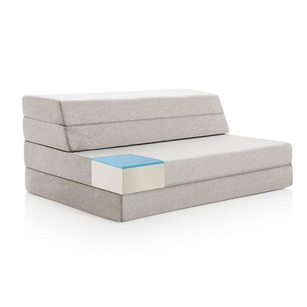 Lucid 4 Inch Gel Memory Foam Folding Mattress Sofa Ping