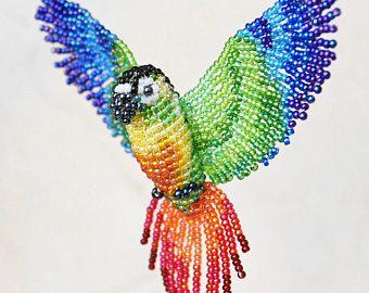 Suncatcher de loro gris africano ornamento del pájaro collar