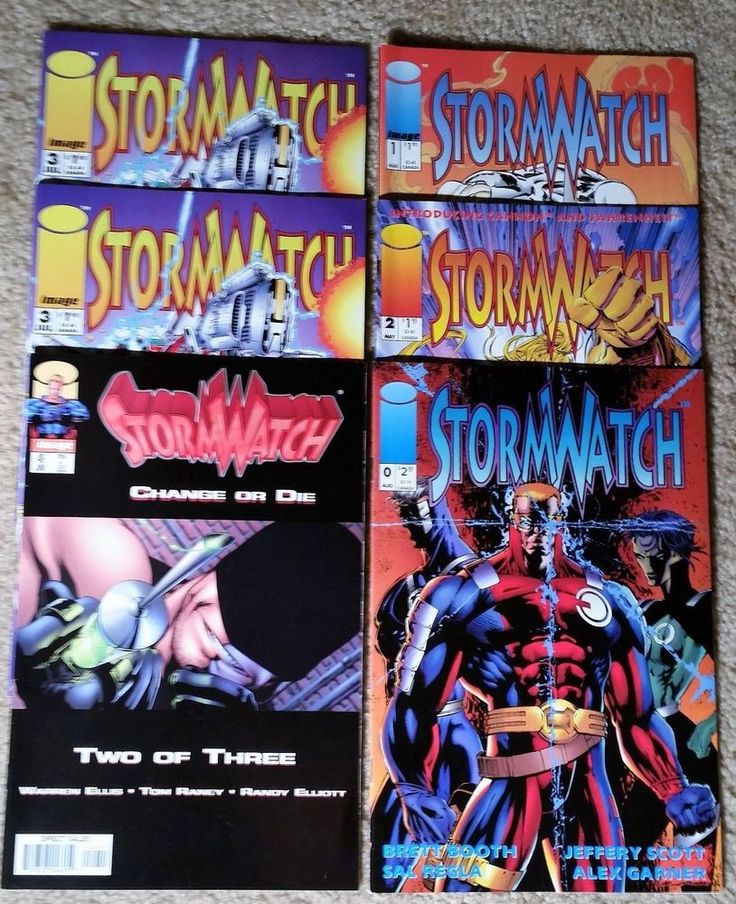 Image Comics Storm Watch 6-Book Lot - Issues Listed in Description