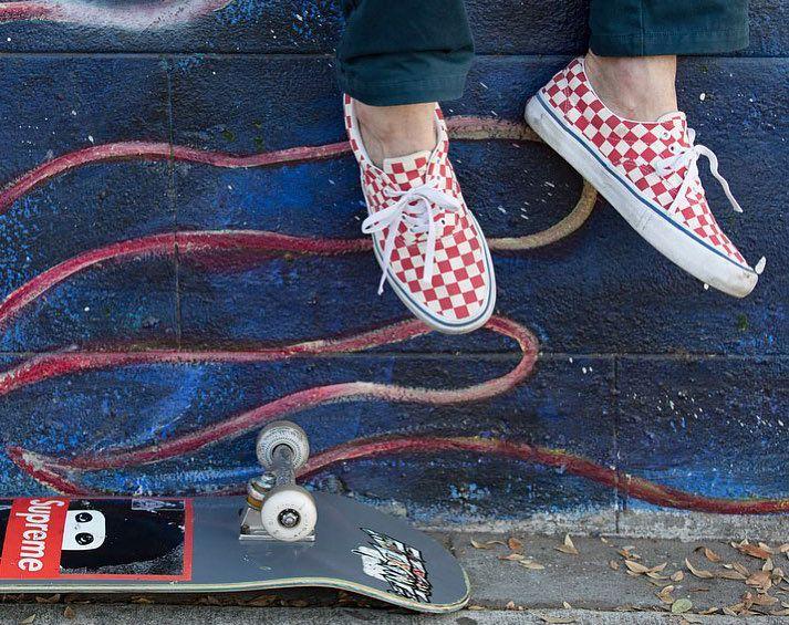 1568aec8a80b98 Vans Era Pro Checker Rococco Red a další www.popname.cz