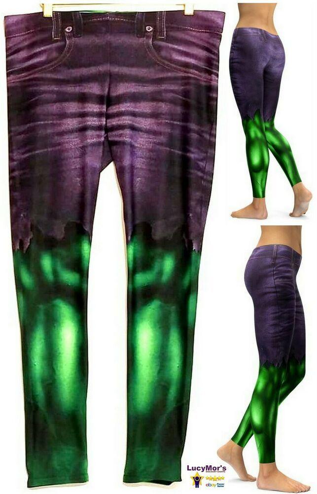 fafd9028caa83 Marvel AVENGERS Hulk Junior Women s All Over Print LEGGINGS (X-Large) -