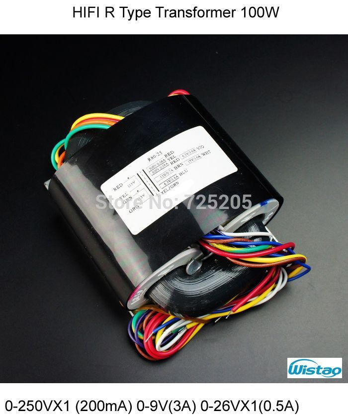 HIFI Amplifier R Type Transformer 0-250VX1 (200mA) 0-9V(3A) 0-26VX1(0.5A) 0-18V(0.5A) for Tube MM/MC Phono Preamplifier PCBA Kit  US $69.90 / piece