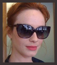 Christina Hendricks wearing Entourage of 7.